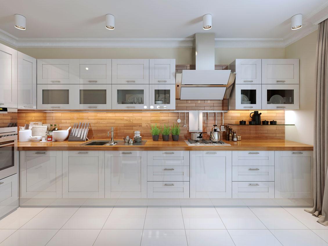 Białe meble kuchenne na wymiar