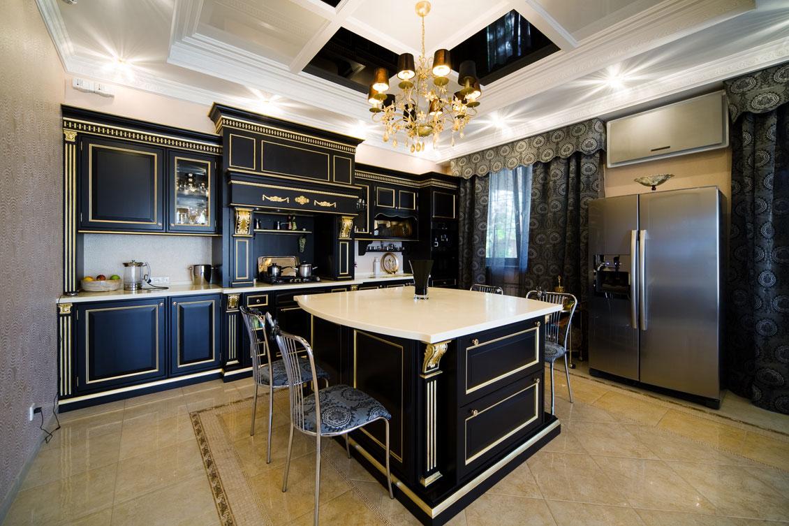 Czarne meble kuchenne na wymiar